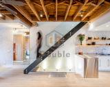 Escalera/escala de madera con el pasamano de cristal/Escalier elegante