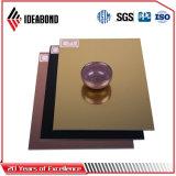 Ideabond 4mm Finition miroir d'or pancarte panneau composite aluminium (AE-202)