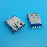 China-Fabrik-Lötmittel-Typ Verbinder Weibchen USB-3.0