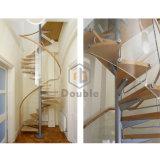 Bauholz-Treppen-Schritt-Treppenhausguangzhou-gewundenes Treppenhaus