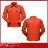 Preço baixo Hi Laranja de calças de trabalho com Faixa reflexiva uniformes de segurança do trabalhador (W421)