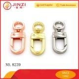 Gancho de leva caliente estupendo del broche de presión de la plata del amarillo del color de rosa de la venta del nuevo diseño