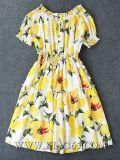 Изготовление одежды конструктора в платье партии способа женщин Китая флористическом напечатанном на лето