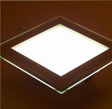 6W 12W 18W LED SMD 5730 de la luz de panel de vidrio