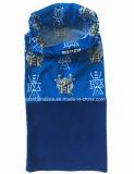 Продукция OEM фабрики Китая подгоняла лыжи Microfiber печати конструкции шарф Fleeceneck голубой приполюсный трубчатый