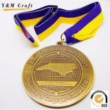 금, 은 및 청동 음색에 있는 공백 승화 방아끈 메달