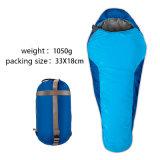 キャンプし、ハイキングのための圧縮のパックが付いているミイラの寝袋