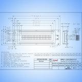 20X2AV10 de gele/Groene LCD Raad van de Vertoning 20*02 LCD van het Karakter