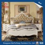 B268 Ruifuxiang белого цвета Роскошный кожаный кровать размера кинг