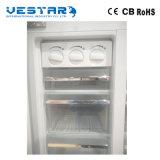 Refrigerador side-by-side del buen diseño con la maneta embutida