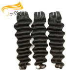 Pelo humano chino más grueso Weft del pelo común grande de la Virgen