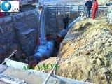 Enterrado tallo subterráneo extendidos soldado completamente la válvula de bola