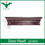 En-tête de porte exquis extérieur en bois solide de classique de luxe pour l'appartement/villa