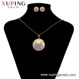 Las mujeres de lujo 63304 Último modelo de la moda de joyería CZ Gemestone joyas con el anillo, pendientes