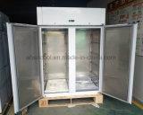Livre de gelo Porta Dupla Comercial chegar em frigorífico com congelador para restaurante
