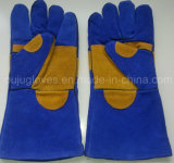 Перчатки заварки Split безопасности коровы 14 дюймов кожаный с Ce