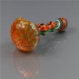 Tubulação de vidro de fumo da colher do Wag da peruca da tubulação da mão da tubulação de água da tubulação