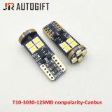 Суперяркий T10 3030 12SMD Nonpolarity зазора буртика Canbus лампы