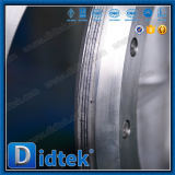 Didtekの三重の風変りなフランジゼロの漏出ステンレス鋼の蝶弁