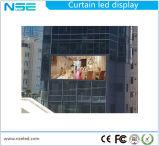 P20 LED impermeável de alta visor transparente de cortina para fachada do prédio