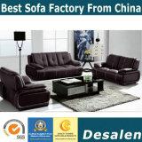 Sofá moderno al por mayor del cuero genuino de la sala de estar de la fábrica (B. 939)