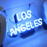 커피, 맥주 바 포스터를 위한 네온사인 빛 로스앤젤레스