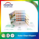 Servicios de impresión profesionales para el catálogo de tarjeta de la pintura de la pared