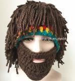 손에 의하여 뜨개질을 하는 모자, 크로셰 뜨개질 사자 모자, 동물성 Earflap 겨울 모자