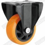 5 Zoll-orange Polyurethan-Rad-industrielle Fußrolle