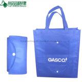 Personalizados baratos bolsa plegable no tejido de soporte comercial Tote