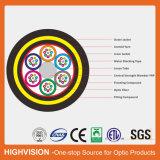 ADSS tous autoportant diélectrique de câble à fibre optique