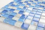 シェルパターンBacksplashガラスのモザイクと線形浴室安く