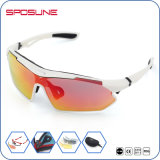 Single Frame Bicycle Volley ball Fishing Glasses Anti-UV 4 Lens Kit Safety Polaised Sunglasses Sports