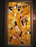 一義的なデザインステンドグラスのパネル