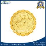 Pièce de monnaie de souvenir de logo gravée en relief par coutume avec la caisse d'emballage