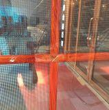 비행거리 스크린을%s 가진 목제 보는 알루미늄 단면도 프렌치 도어 입구 문