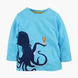 幼児の男の子の女の子の長い袖の100%年の綿のTシャツの上のティーのサイズ3-8年