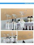 Rek van de Kop van de Houders van de Wijn van het Rek van het Glas van de Wijn van de Houder van de Drinkbeker van de Kop van de Wijn van het Roestvrij staal van de manier hangt het Hangende de Lange Glazen van de Tribune Rode Wijn