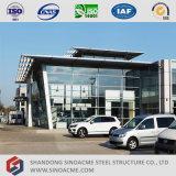 Sala d'esposizione prefabbricata dell'automobile della struttura d'acciaio