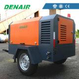 Compresor de aire diesel móvil industrial del tornillo para la fábrica de productos químicos
