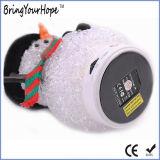 Altoparlante di Bluetooth del pupazzo di neve di natale di cristallo variopinto di figura audio mini (XH-PS-662)