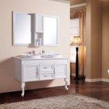 Double bassin de tailles importantes au-dessus contre- de Module reflété de salle de bains de bassin par vanité fixée au sol en céramique