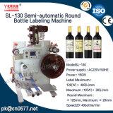 De halfautomatische Ronde Machine van de Etikettering van de Fles voor Geneeskunde (SL-130)