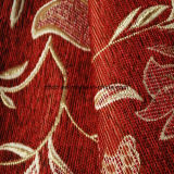Tessuto di picchiettio del seguicamma del Chenille di colore rosso per il sofà