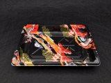 Retângulo Caixa Sushi de plástico descartáveis com tampa