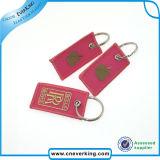 Bordados Remova antes do voo chaveiro, Etiqueta de chave, anel de chave