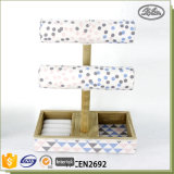 Support en bois d'étalage de crémaillère de bijou de décor d'art de mannequin utile à la maison de partie supérieure du comptoir