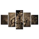La pintura impresa de la lona del cartel de Bruce Lee de la lona de pedazo 5 representa la decoración casera para el cuadro de la decoración del arte de la pared de la sala de estar