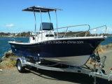 Liya 19FT使用される深いVの外皮のガラス繊維パンガ刀のボートを採取する