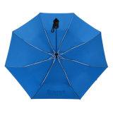 熱い販売21inchの自動開いた広告の習慣の折る傘